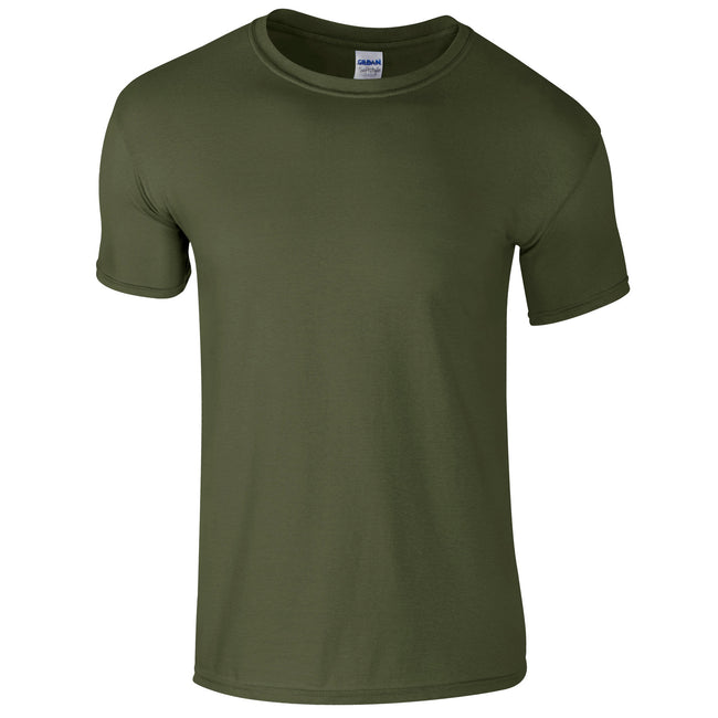 Military Green - Front - Gildan Mens Short Sleeve Soft-Style T-Shirt