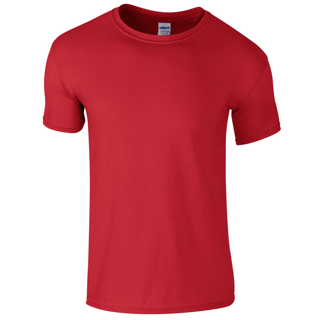 Red - Front - Gildan Mens Short Sleeve Soft-Style T-Shirt