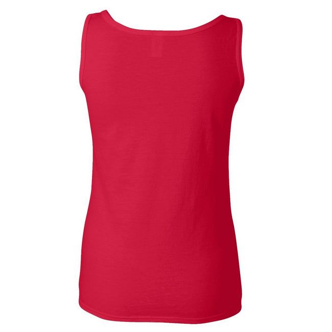 Cherry Red - Front - Gildan Ladies Soft Style Tank Top Vest