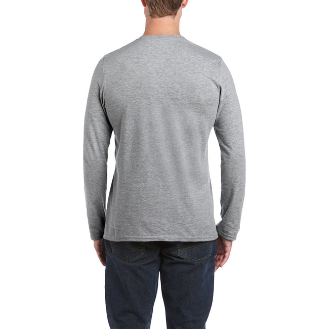 Sport Grey (RS) - Side - Gildan Mens Soft Style Long Sleeve T-Shirt