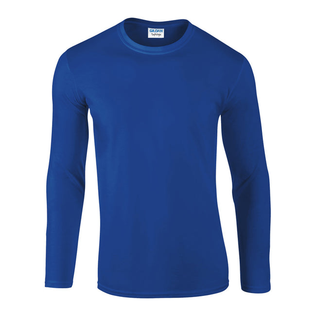 Royal - Front - Gildan Mens Soft Style Long Sleeve T-Shirt