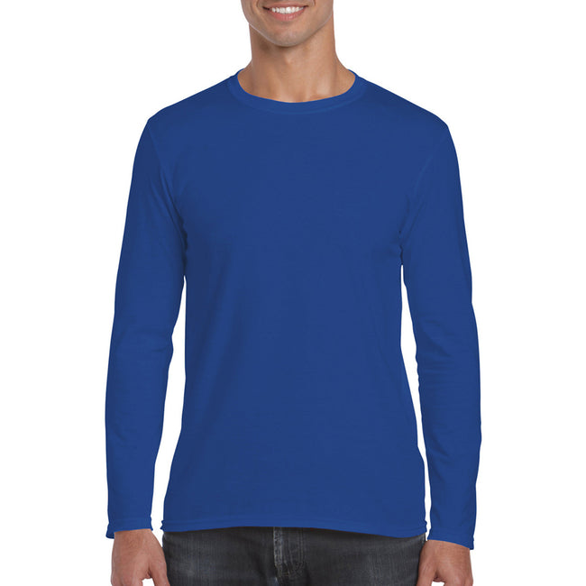Royal - Back - Gildan Mens Soft Style Long Sleeve T-Shirt