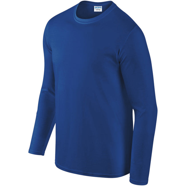 Royal - Pack Shot - Gildan Mens Soft Style Long Sleeve T-Shirt