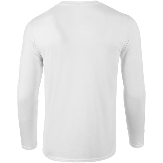 White - Lifestyle - Gildan Mens Soft Style Long Sleeve T-Shirt