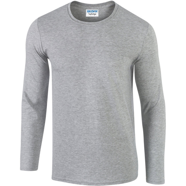 Sport Grey (RS) - Front - Gildan Mens Soft Style Long Sleeve T-Shirt