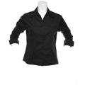 Black - Back - Kustom Kit Ladies 3-4 Sleeve Corporate Oxford Shirt