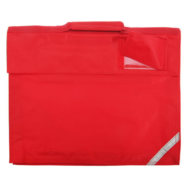Bright Red - Front - Quadra Junior Book Bag - 5 Litres