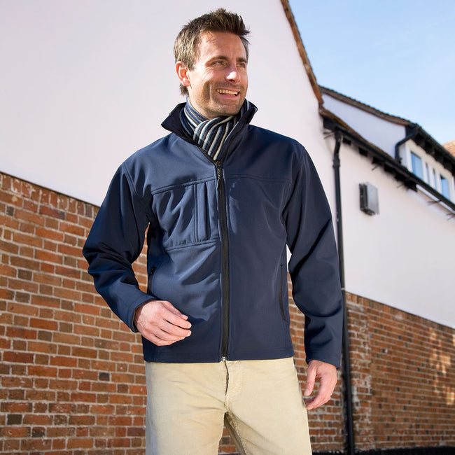 Grey - Front - Result Mens Classic Softshell Breathable Jacket