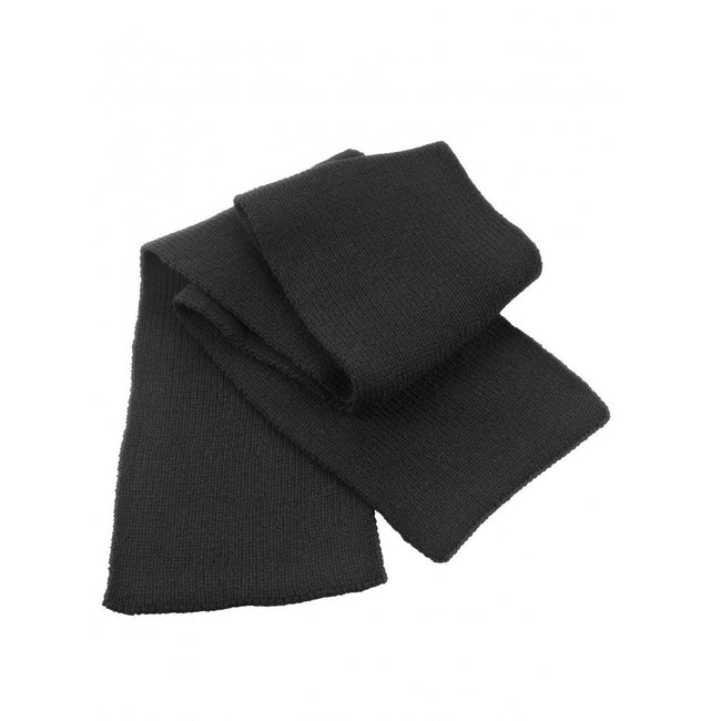 Black - Front - Result Classic Heavy Knit Thermal Winter Scarf