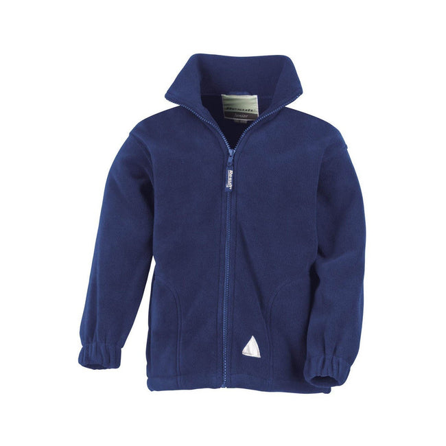 Royal - Front - Result Childrens-Kids Full Zip Active Anti Pilling Fleece Jacket