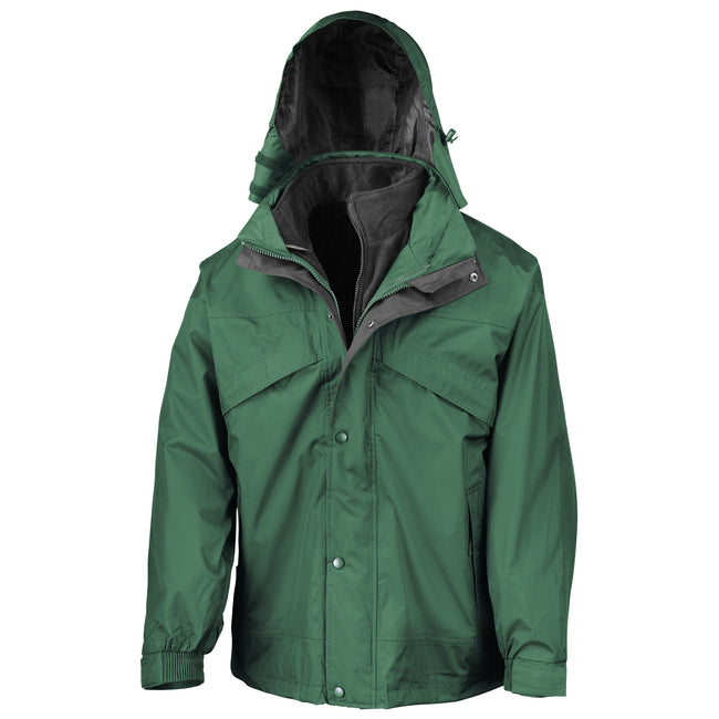 Navy Blue - Front - Result Mens 3 In 1 Zip And Clip StormDri Waterproof Windproof Jacket