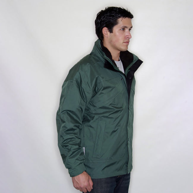 Red - Front - Result Mens 3 In 1 Zip And Clip StormDri Waterproof Windproof Jacket