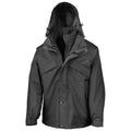 Black - Front - Result Mens 3 In 1 Zip And Clip StormDri Waterproof Windproof Jacket
