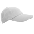 White - Front - Result Unisex Low Profile Heavy Brushed Cotton Baseball Cap
