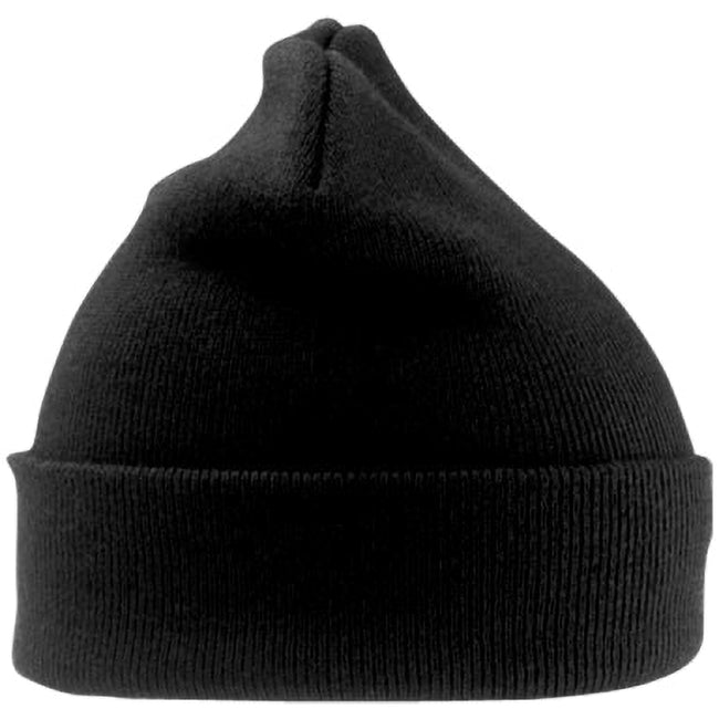 Black - Side - Result Woolly Thermal Ski-Winter Hat with 3M Thinsulate Insulation