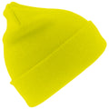 Hi-Vis Yellow - Front - Result Woolly Thermal Ski-Winter Hat with 3M Thinsulate Insulation
