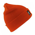 Hi Vis Orange - Back - Result Woolly Thermal Ski-Winter Hat with 3M Thinsulate Insulation