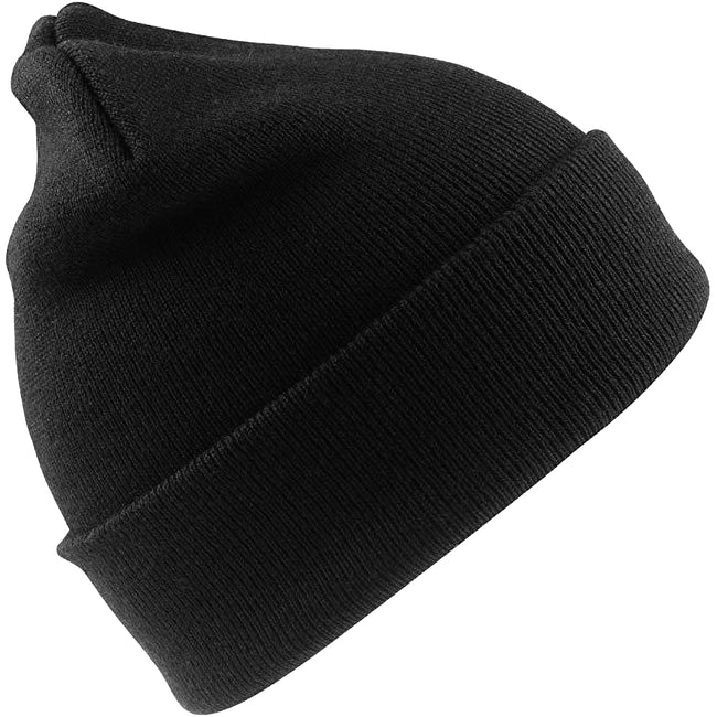 Black - Front - Result Woolly Thermal Ski-Winter Hat with 3M Thinsulate Insulation