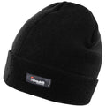 Black - Back - Result Woolly Thermal Ski-Winter Hat with 3M Thinsulate Insulation