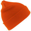 Hi Vis Orange - Front - Result Woolly Thermal Ski-Winter Hat with 3M Thinsulate Insulation