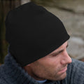 Black - Back - Result Pull On Soft Feel Acrylic Winter Hat