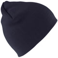 Navy Blue - Front - Result Pull On Soft Feel Acrylic Winter Hat