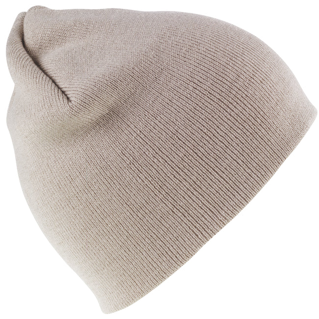 Stone - Front - Result Pull On Soft Feel Acrylic Winter Hat