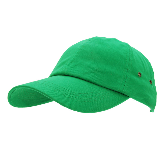 Kelly Green - Front - Result Unisex 100% Plush Finish Baseball Cap