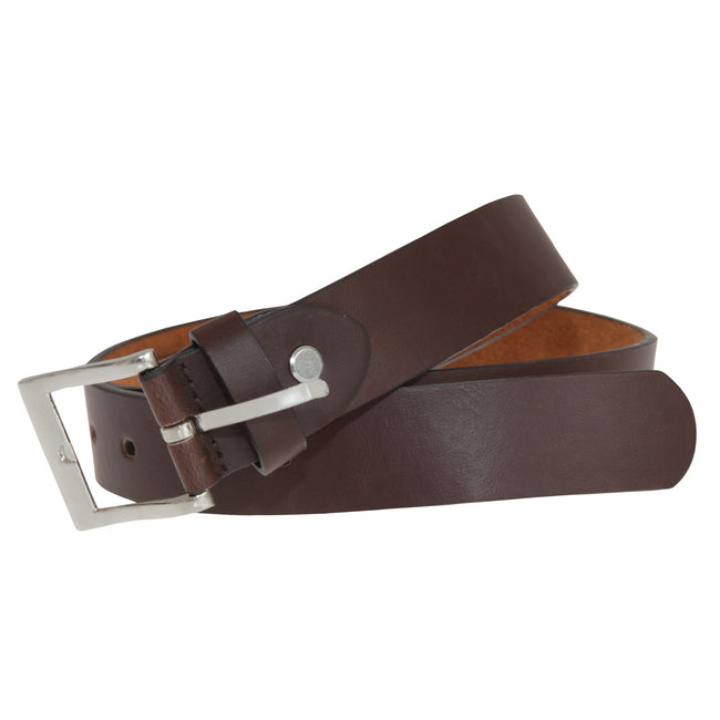 Brown - Front - Forest Belts Mens 1.1in Bonded Leather Belt