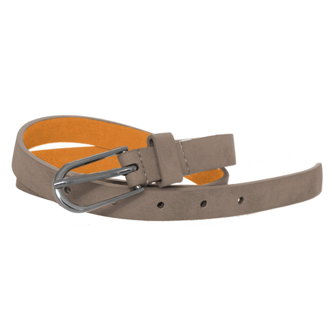 Grey - Front - Forest Womens-Ladies Simple Leather Belt