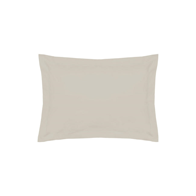 Oyster - Front - Belledorm 200 Thread Count Egyptian Cotton Oxford Pillowcase