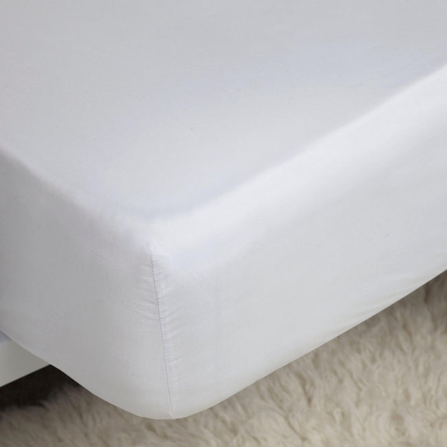 White - Front - Belledorm 200 Thread Count Cotton Percale Ultra Deep Fitted Sheet