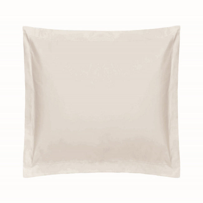 Ivory - Front - Belledorm 1000 Thread Count Cotton Sateen Continental Pillowcase