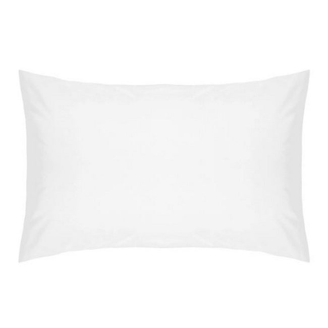 White - Front - Belledorm Cotton Percale Housewife Pillowcase Pair