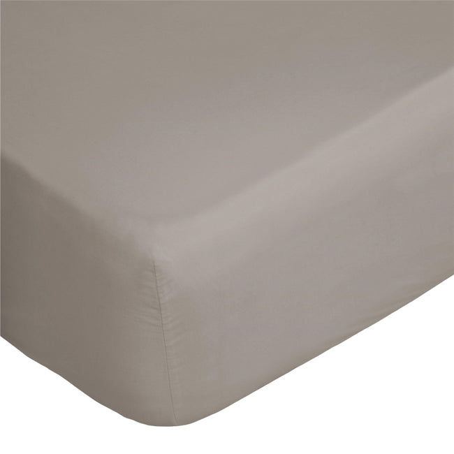 White - Back - Belledorm 400 Thread Count Egyptian Cotton Fitted Sheet