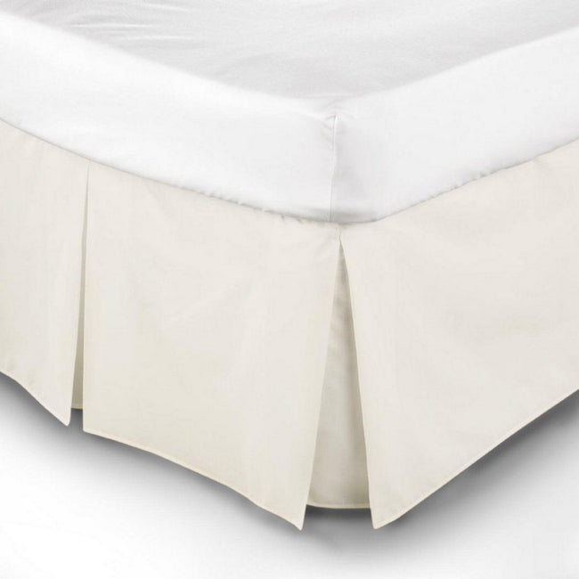 White - Front - Belledorm Easy Fit Pleated Platform Valance