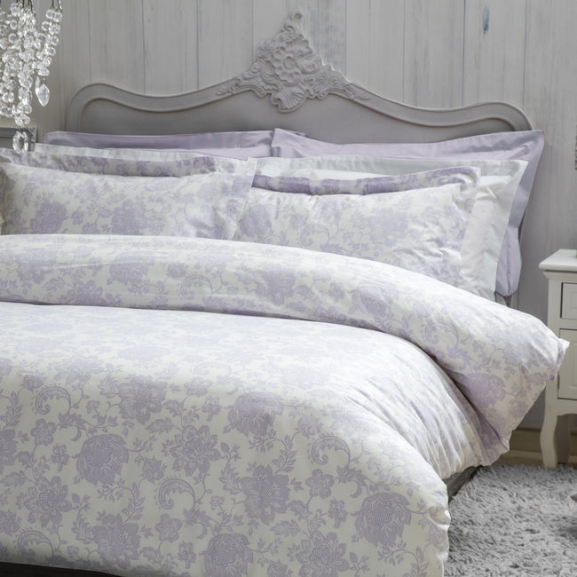 Lilac - Front - Belledorm Miley Duvet Cover Set