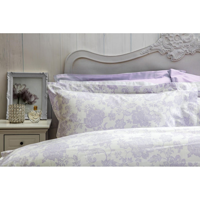 Lilac - Back - Belledorm Miley Duvet Cover Set