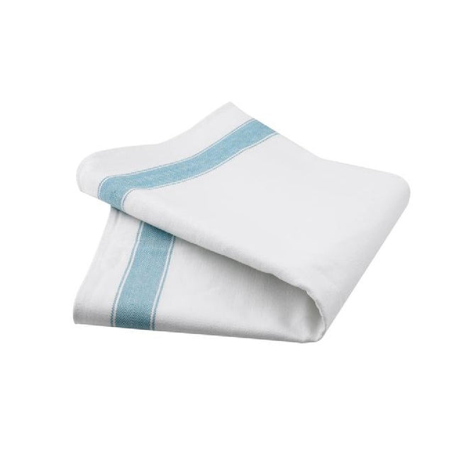 White - Front - Belledorm Professional Tea Towels (Pack Of 2)