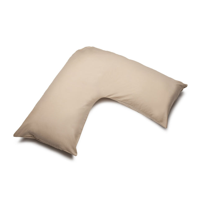 Walnut Whip - Front - Belledorm Easycare Percale V-Shaped Orthopaedic Pillowcase