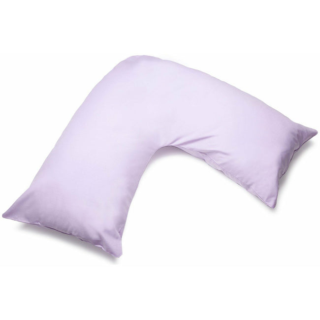 Violet - Front - Belledorm Easycare Percale V-Shaped Orthopaedic Pillowcase