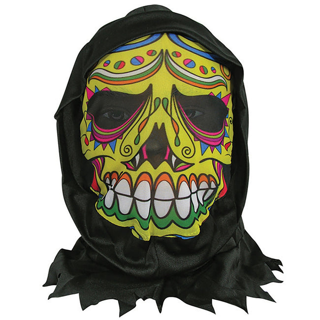 Multicoloured - Front - Bristol Novelty Unisex Adults Day Of The Dead Skin Mask