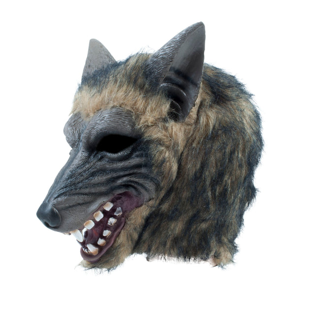 Multicoloured - Front - Bristol Novelty Unisex Adults Brindle Effect Wolf Mask