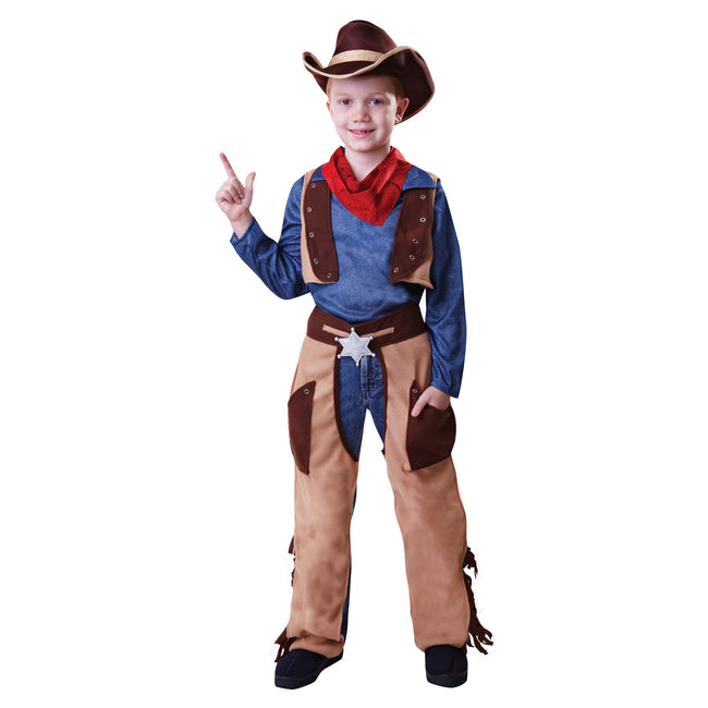 Brown - Front - Bristol Novelty Childrens-Kids Wild West Cowboy Costume