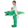 Green - Front - Bristol Novelty Childrens-Kids Crocodile Step In Costume