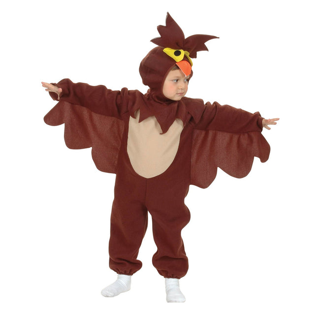 Brown - Front - Bristol Novelty Childrens-Kids Owl Costume