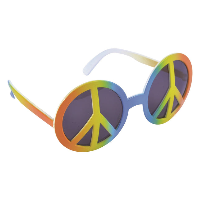 Rainbow - Front - Bristol Novelty Peace Symbol Glasses