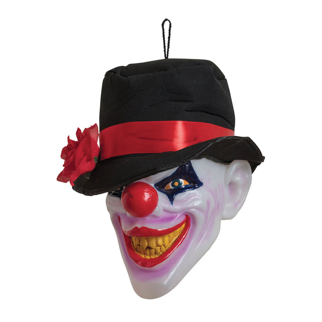 White-Black-Red - Front - Bristol Novelty Clown Head With Light