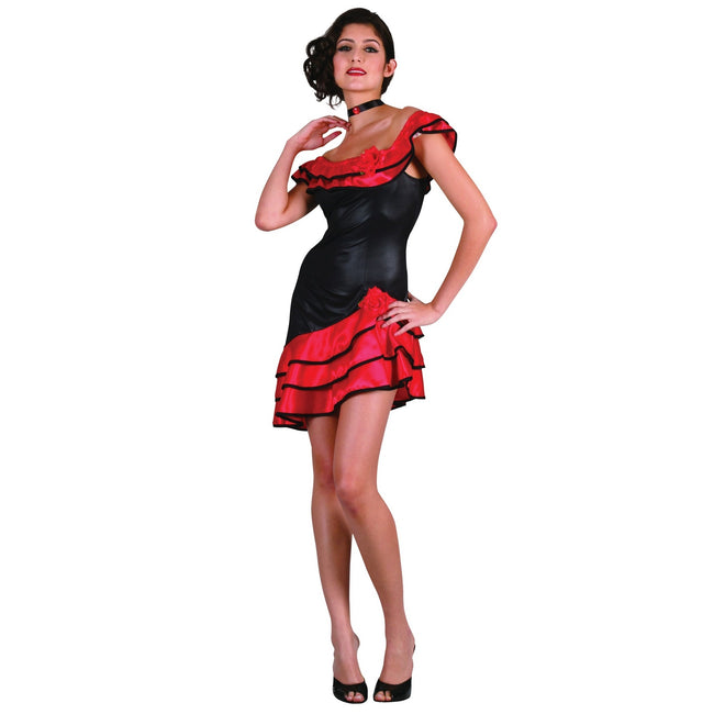 Black-Red - Front - Bristol Novelty Womens-Ladies Spanish Dress Costume