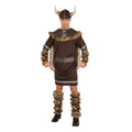 Brown - Front - Bristol Novelty Mens Winter Viking Costume